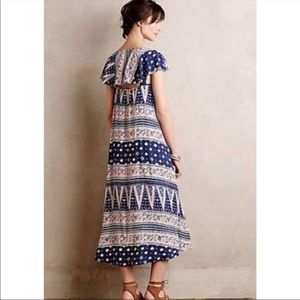 Anthropologie Maeve Summertide maxi dress size L